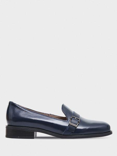 Кожаные туфли - синие Braska