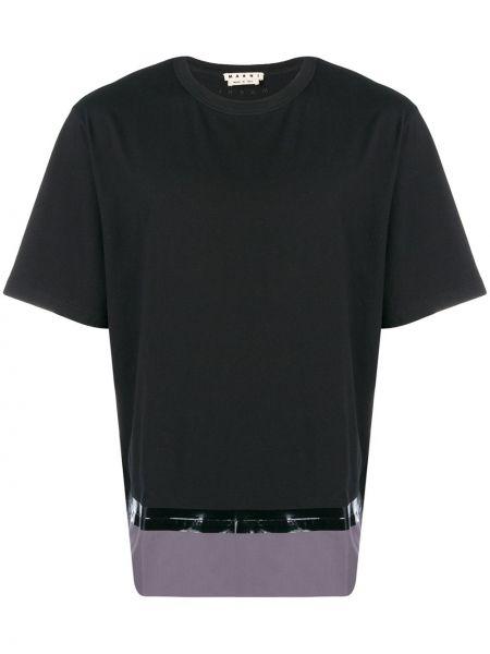 Koszula krótkie z krótkim rękawem prosto z nadrukiem Marni