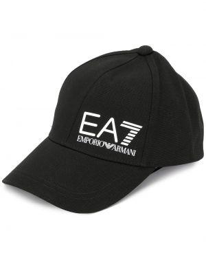 Baseball bawełna bawełna czarny czapka z daszkiem Ea7 Emporio Armani