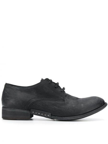 Черные туфли на шнуровке на каблуке Artselab