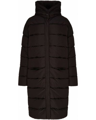 Теплое черное пальто на молнии ли-лу
