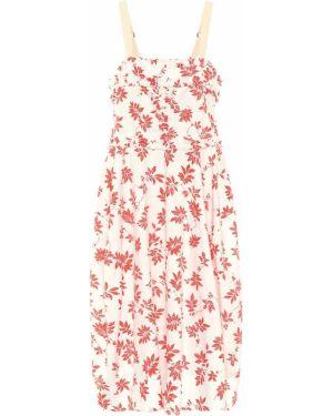 Платье миди с цветочным принтом из поплина Lee Mathews