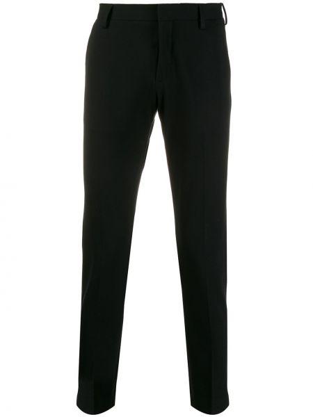 Черные деловые прямые брюки с поясом новогодние Entre Amis
