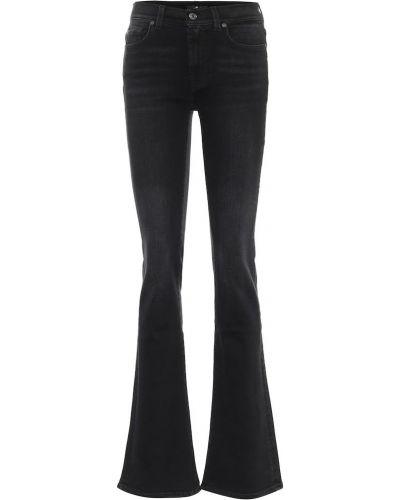 Ватные хлопковые черные джинсы 7 For All Mankind