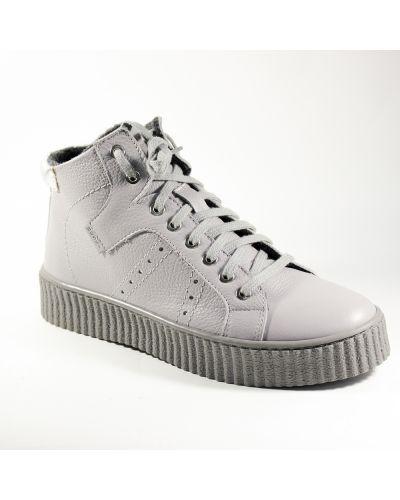 Кожаные ботинки - серые Nessi