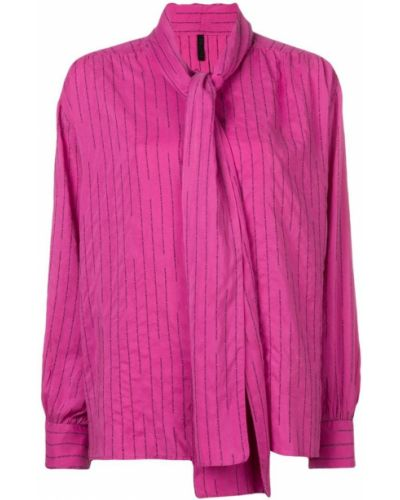 Блузка розовая в полоску Unravel Project