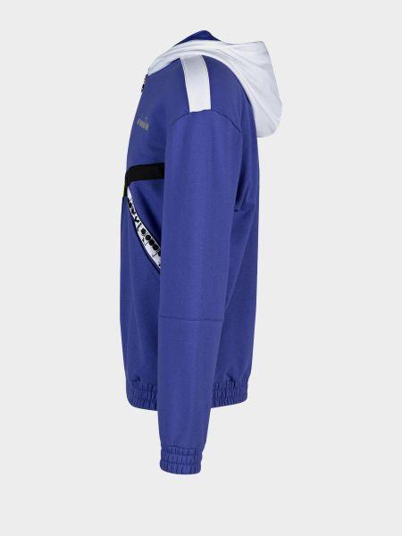 Куртка с капюшоном - синяя Diadora