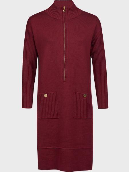 Шерстяное красное платье на молнии Luisa Spagnoli