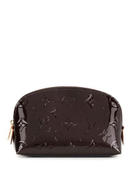 Лаковая кожаная косметичка на молнии Louis Vuitton