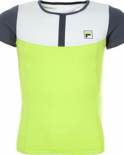 Спортивная футболка стрейчевая приталенная Fila