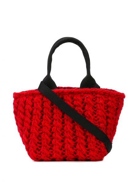Красная соломенная сумка-тоут Muun
