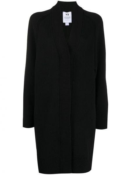 Прямой черный кардиган с вышивкой с рукавом реглан Y-3