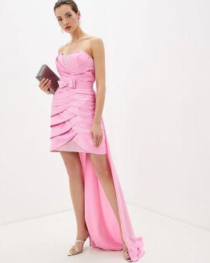 Вечернее платье розовое осеннее Amour Bridal
