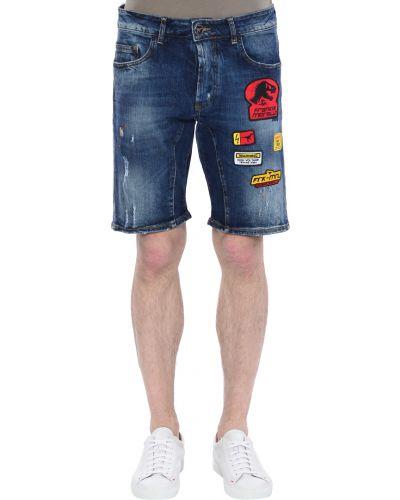 Хлопковые шорты - синие Frankie Morello