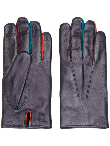 Fioletowe rękawiczki skorzane Paul Smith