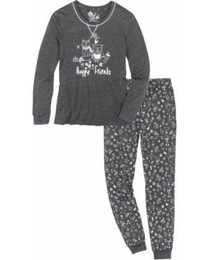 Пижама с брюками с карманами пижамный Bonprix
