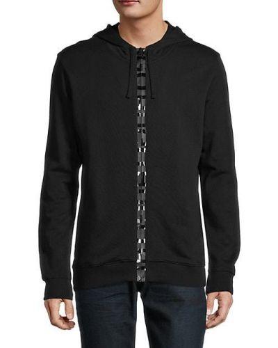 Czarna bluza z kapturem z długimi rękawami Hugo Hugo Boss