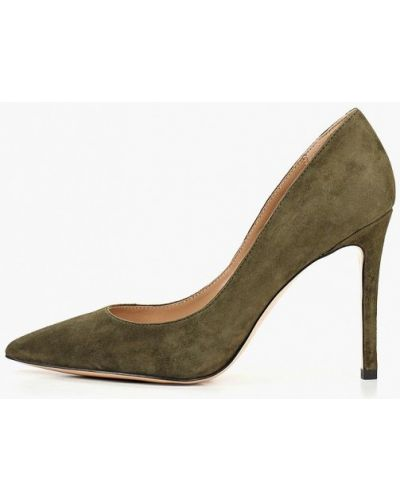 Туфли на каблуке зеленый замшевые Paolo Conte
