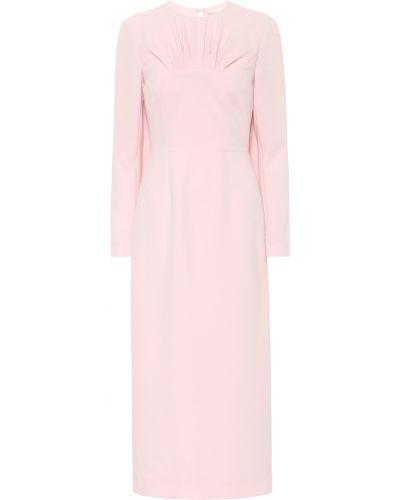 Розовое платье миди Emilia Wickstead