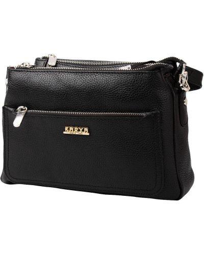 Кожаная сумка через плечо - черная Karya