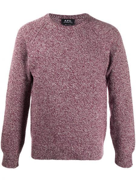 Wełniany pulower z długimi rękawami z mankietami okrągły dekolt A.p.c.
