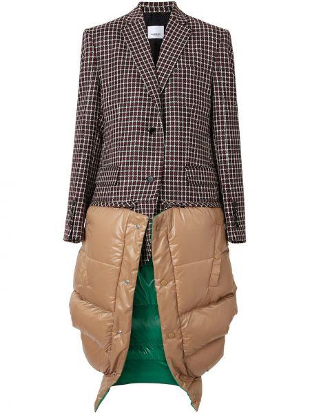 Шерстяной пиджак с карманами на пуговицах с лацканами Burberry