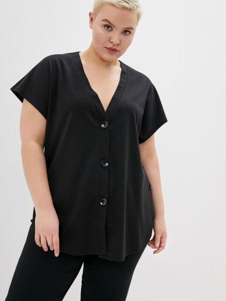 Блузка с коротким рукавом черная весенний Svesta