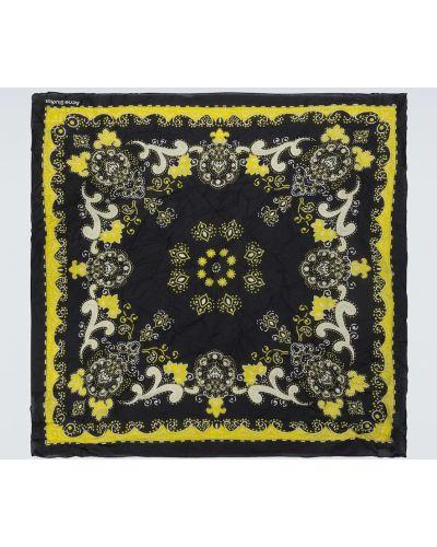 Ватный черный шелковый шарф Acne Studios