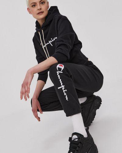 Czarna bluza z kapturem bawełniana Champion