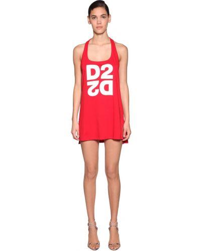 Ватное трикотажное платье с декольте Dsquared2