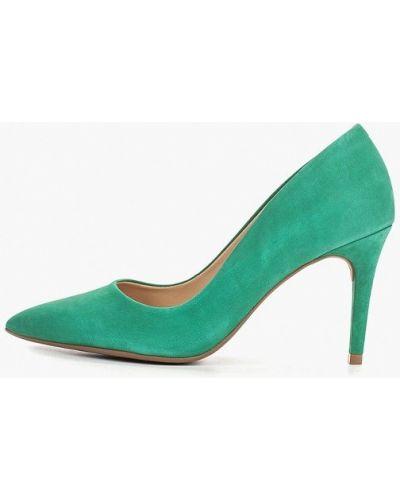 Туфли на каблуке зеленый лодочки Arezzo