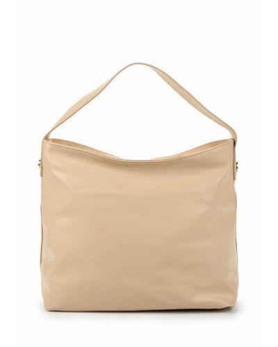 Бежевая кожаный сумка Jennyfer
