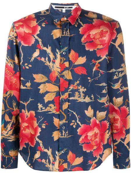 Niebieska klasyczna koszula bawełniana z długimi rękawami Mcq Alexander Mcqueen