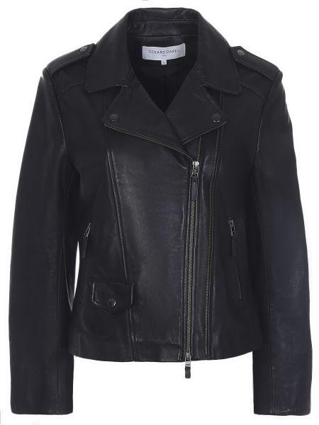 Кожаная куртка черная на молнии Gerard Darel