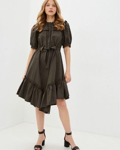 Прямое зеленое платье Y.a.s