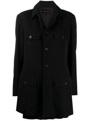 Шерстяная черная куртка с воротником Comme Des Garçons Pre-owned
