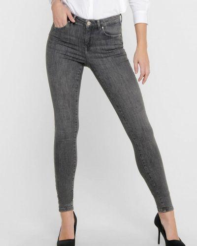 Серые джинсы-скинни узкого кроя Only