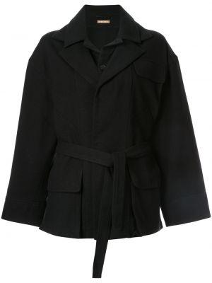 Шерстяная с рукавами черная куртка Nehera