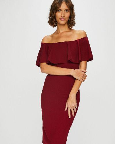Платье мини с открытыми плечами прямое Haily's