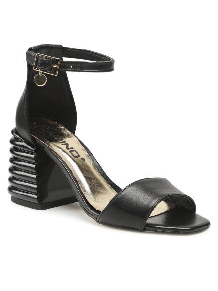 Czarne sandały casual Karino