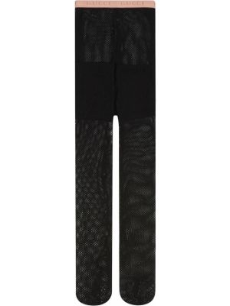 Czarne ażurowe rajstopy Gucci