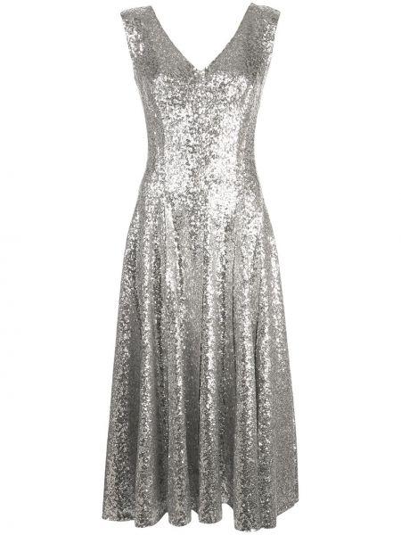 Платье с открытой спиной с пайетками Norma Kamali