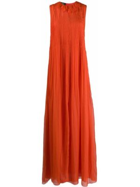Свободное платье макси свободного кроя без рукавов Rochas