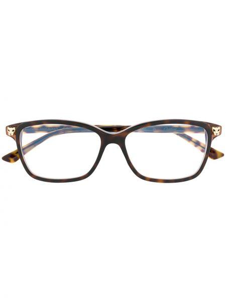 Oprawka do okularów złoto brązowy Cartier