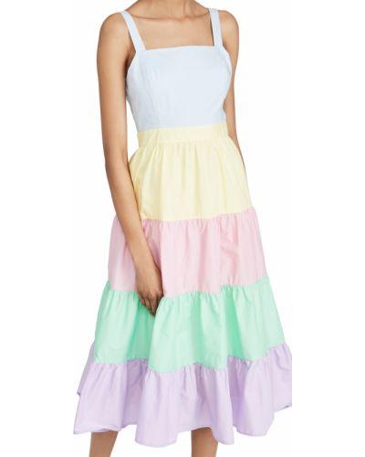 Хлопковое платье миди с подкладкой на крючках English Factory