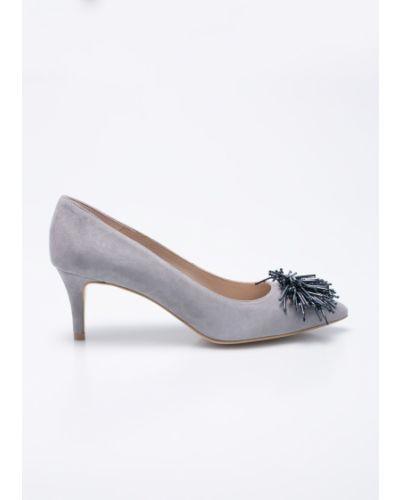 Серые туфли на высоком каблуке Gino Rossi