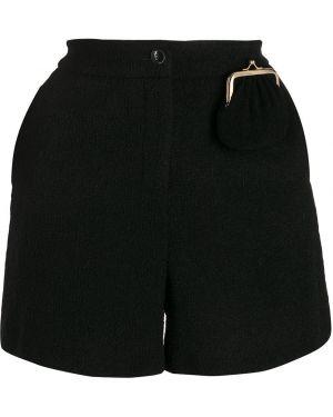 Однобортные черные шорты на пуговицах Boutique Moschino