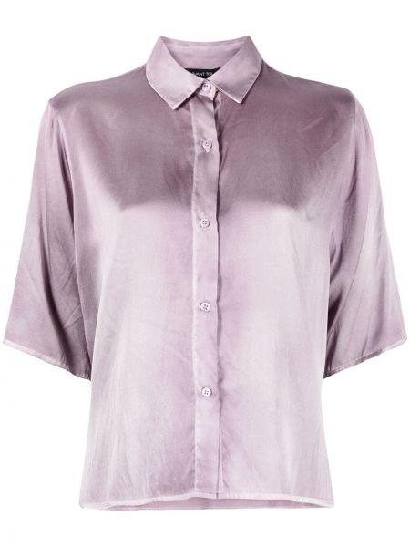 Шелковая рубашка с короткими рукавами с воротником Avant Toi