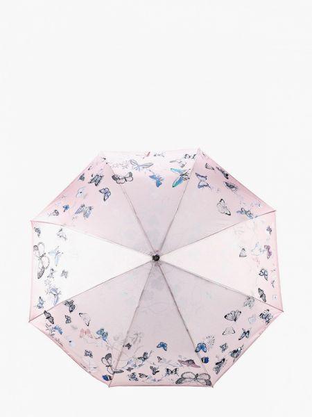 Зонт розовый складной Fabretti