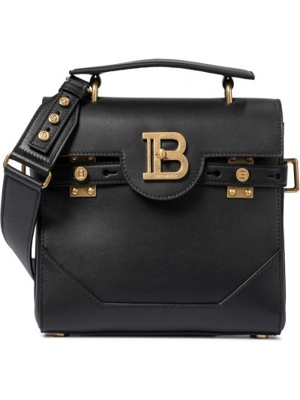 Skórzany czarny torba kosmetyczna Balmain